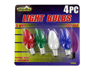 Wholesale: 5 Watt colored light bulbs
