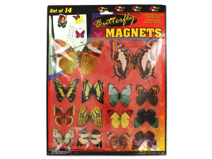 Wholesale: Set of 14 butterfly magnets