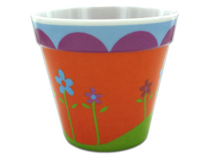 Wholesale: Melamine Flower Pot with Floral Design