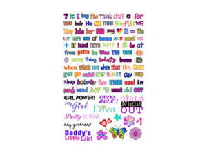 Wholesale: Girl Talkin' word magnet set