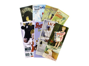 Wholesale: Long art prints, assorted designs, pack of 4