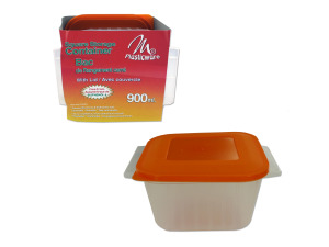 900 ml square container assorted color lid