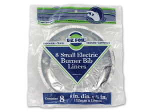 Electric burner bib liners