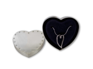 Heart necklace/box 12444