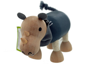 5pk wooden rhinos 14088