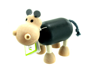 Wholesale: 5pk wooden hippos 14089