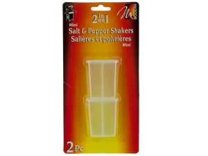 Wholesale: 2 pc mini 2 in 1 salt and pepper shakers
