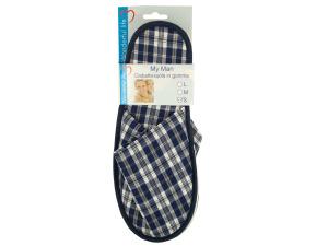 Men's Plaid Slippers
