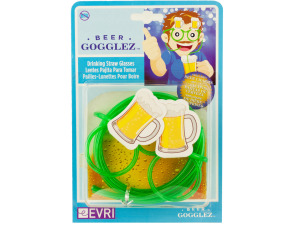 Wholesale: Beer Gogglez Drinking Straw Glasses