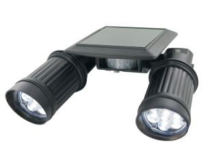 Motion Sensor Solar Twin Spot PIR Security Light