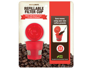 Wholesale: MochaMates Single Refillable Coffee Filter Cup on Clip Strip