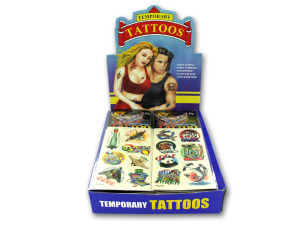 Wholesale: Black and white assorted tattoos (96 pc display)