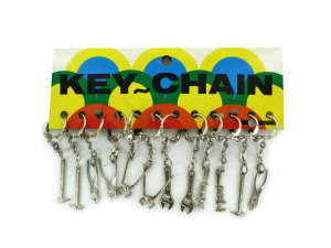 Wholesale: Tools keychains, 12 per card