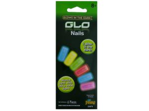 Wholesale: 6pc glow in dark nails