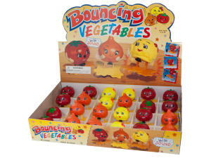 Bouncing Toy Vegetables Counter Top Display