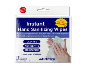 Wholesale: Instant Hand Sanitizing Wipes