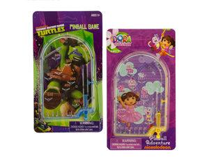 Wholesale: Assorted Dora & Ninja Turtles Licensed Kids' Pinball Game