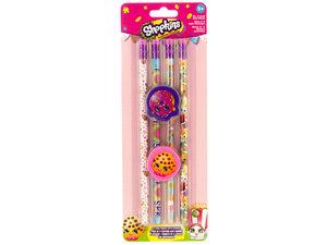 Wholesale: Shopkins Pencils & Erasers Set