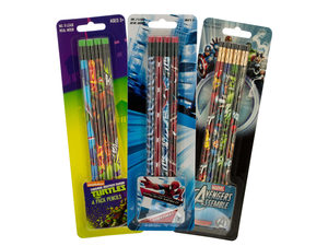 Wholesale: Licensed Assorted Pencils Set