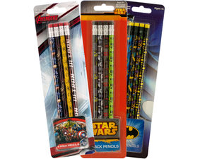 Wholesale: Assorted Licensed Pencils Set