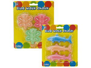 Wholesale: Animal-Shaped Sidewalk Chalk Set