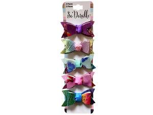 Wholesale: Multi-Color 5 Piece Hair Clippies
