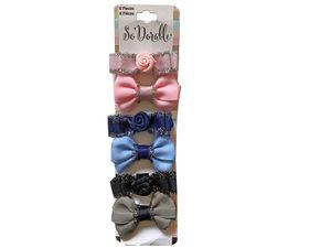 Wholesale: Multi-Color 6 Piece Hair Clippies