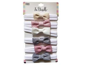 Wholesale: Multi-Color 6 Piece Headbands