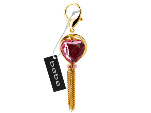 Wholesale: Heart keychain with gold tassle