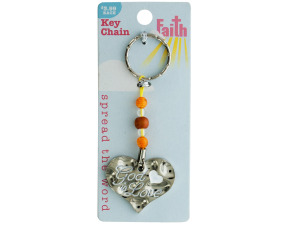 Wholesale: Religious Keychain with Beads