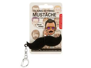 Wholesale: Talking Mustache Key Chain