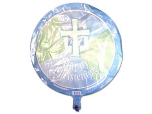Wholesale: Happy christening blue metallic balloon