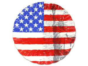 Wholesale: Liberty/flag paper serving tray