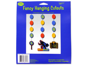 Wholesale: Secret Agent Fancy Hanging Party Cutouts