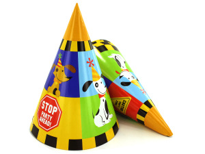 Wholesale: Rescue Pals party hats, pack of 8