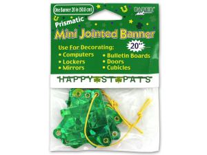 Wholesale: 20-Inch Happy St. Pat's Banner