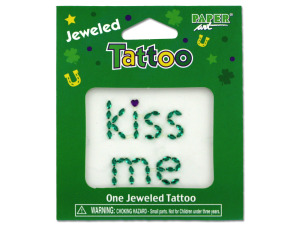 Wholesale: Jeweled kiss me tattoo
