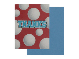 Wholesale: Volleyball thank you cards, set of 8