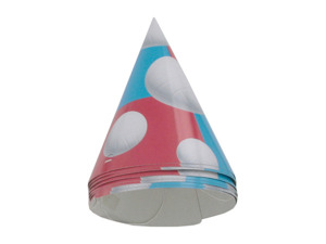Wholesale: Volleyball party hats, 8 count
