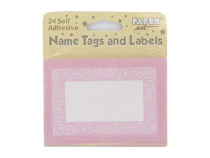Wholesale: Self-adhesive tags and labels, pack of 24