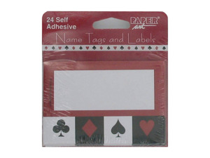 Card Night Name Tags & Labels