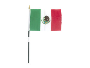 Mexico 4x6 cloth flag x1