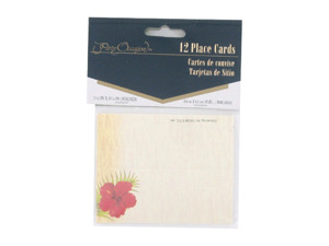 Wholesale: Floral Chic place cards, pack of 12