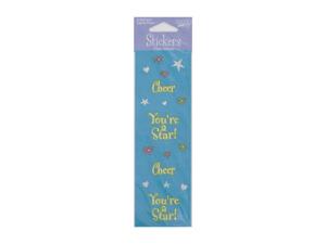 Wholesale: Cheer Girl metallic stickers, 1 sheet