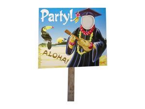 Wholesale: Grad luau two sided yard sign