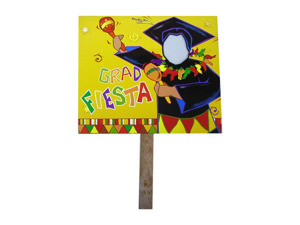 Wholesale: Grad fiesta two sided yard sign