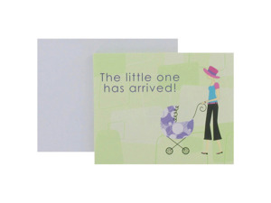 Wholesale: Baby announcements with modern mom, set of 8