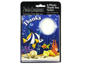 Wholesale: Sea life photo 'thank you' cards, pack of 8