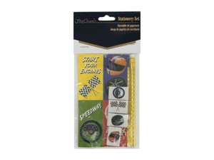 Wholesale: Speedway stationery set (pencil, erasers, stickers)
