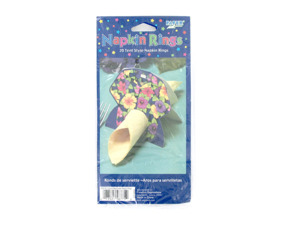 Wholesale: Tropical tent-style napkin rings, package of 20